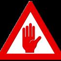 alert notice cancel sign