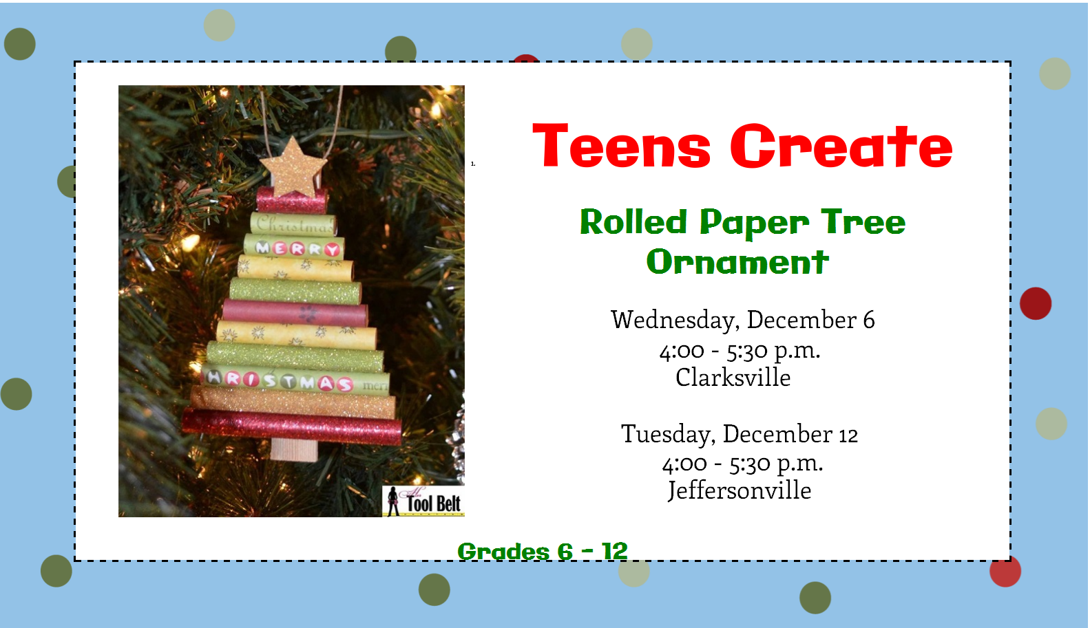 Make a rolled paper tree ornament