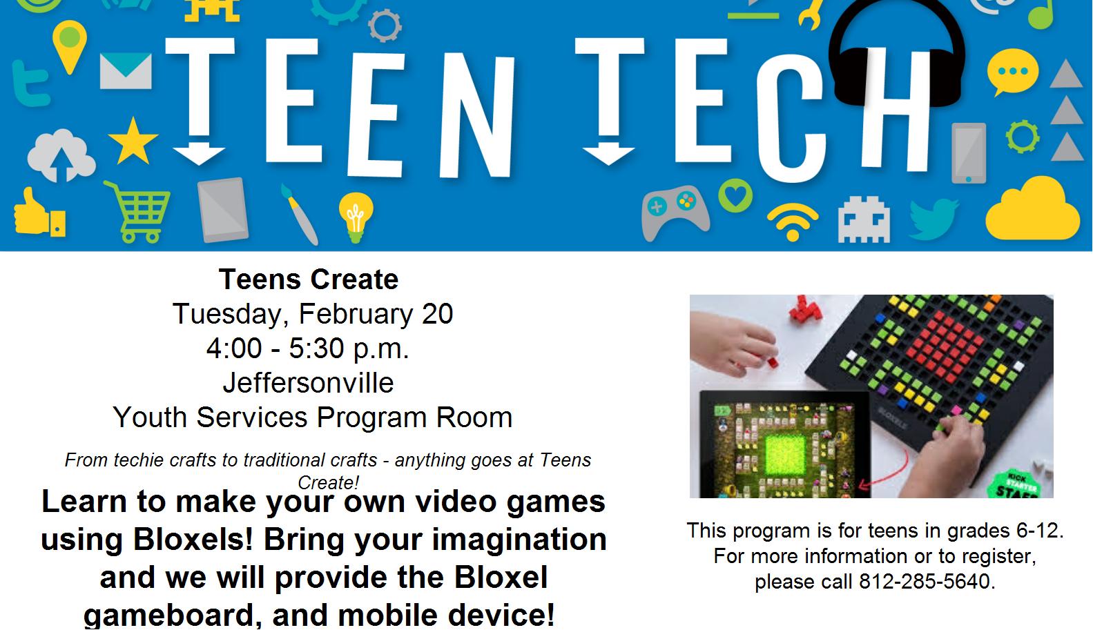 Teens Create - Bloxels