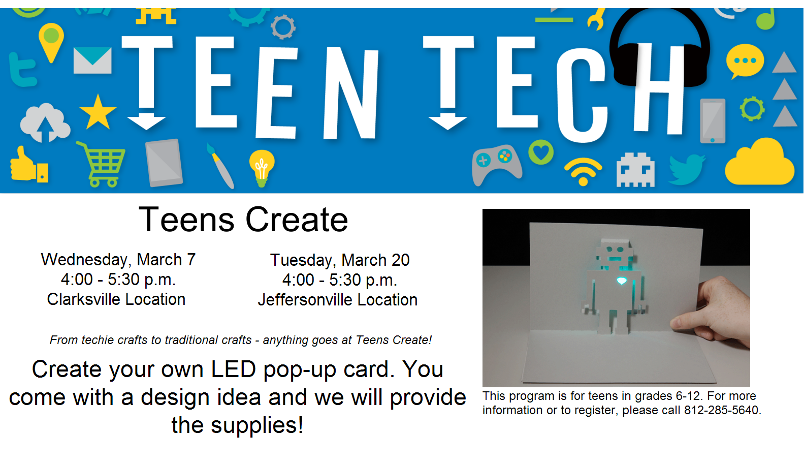 Teens Create: LED pop-up card