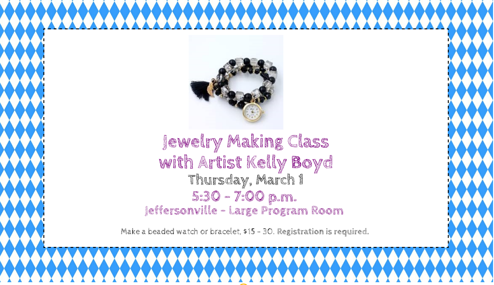 Jewelry Making with Kelly Boyd