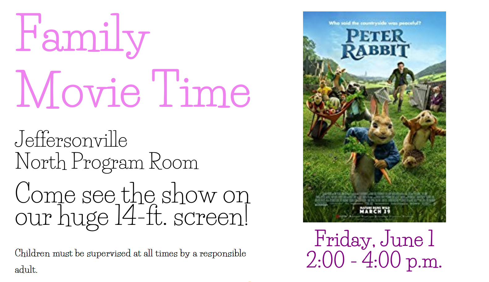 Family Movie Time: Peter Rabbit
