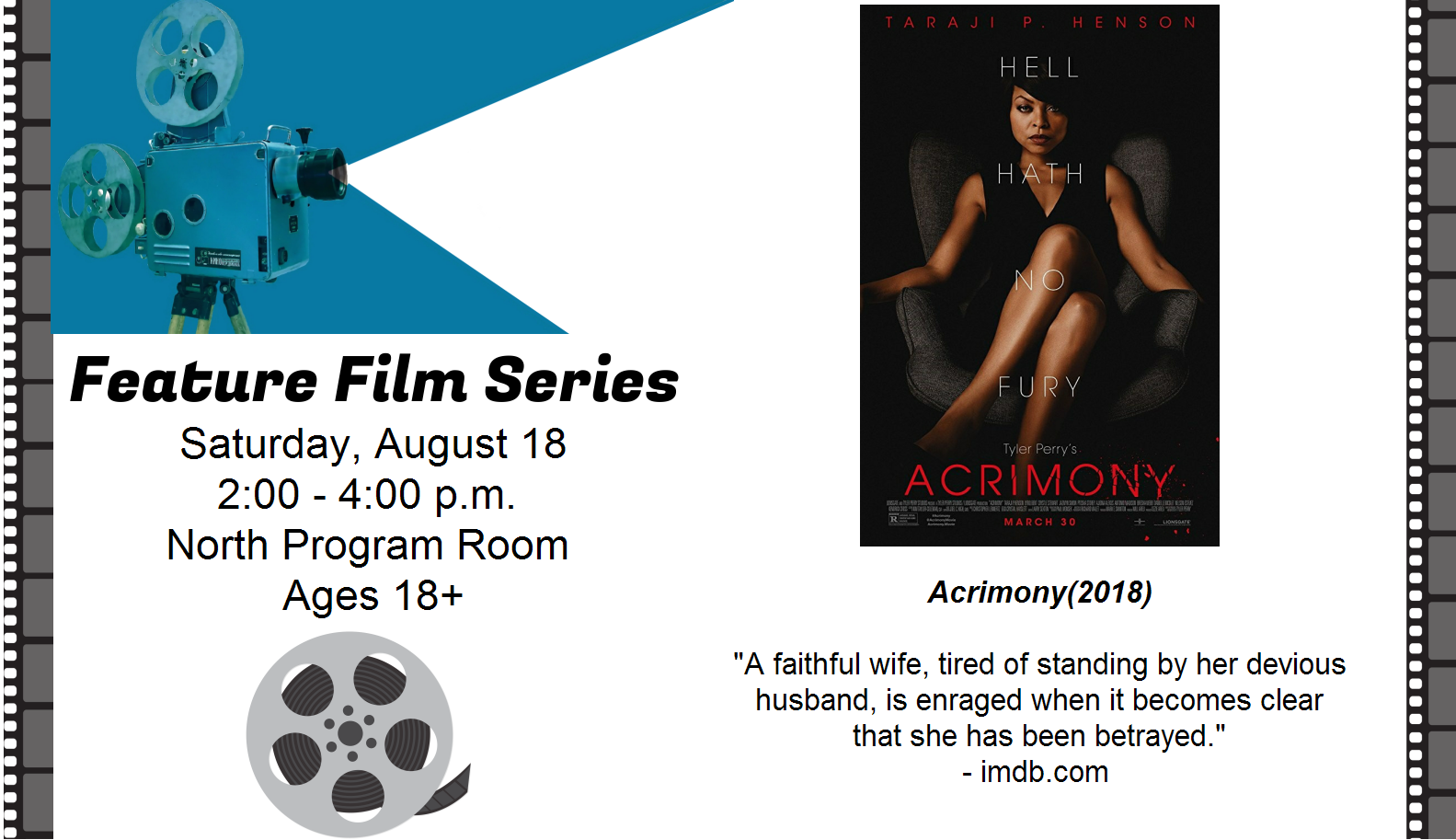 Feature Film in August: Acrimony
