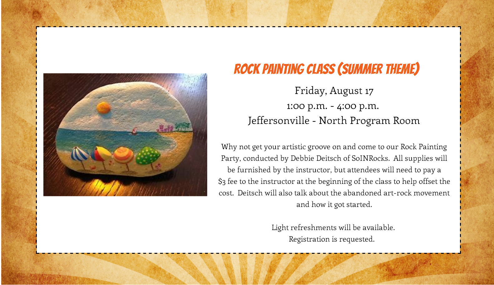 Rock Painting in August