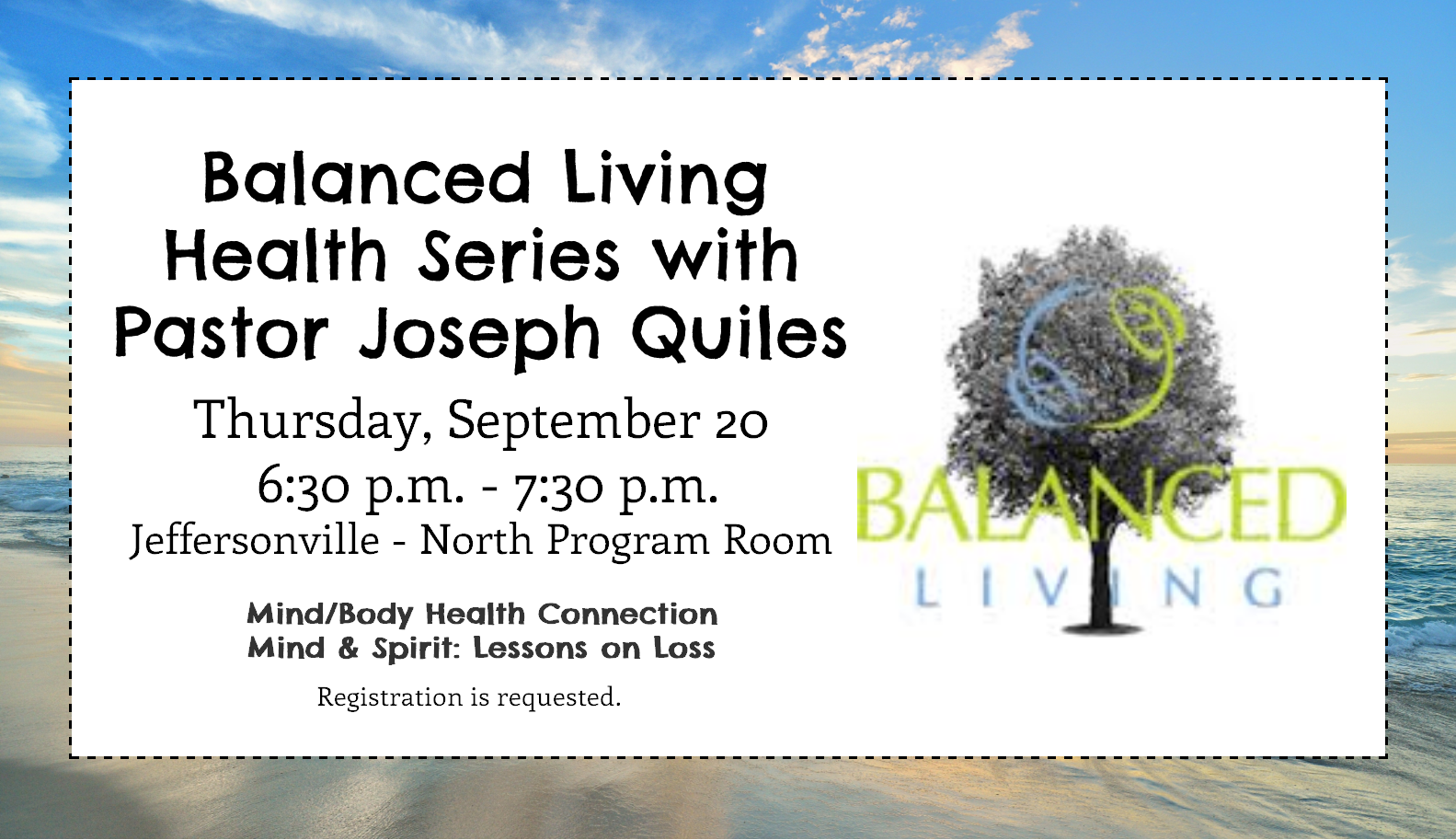 Balanced Living series – September
