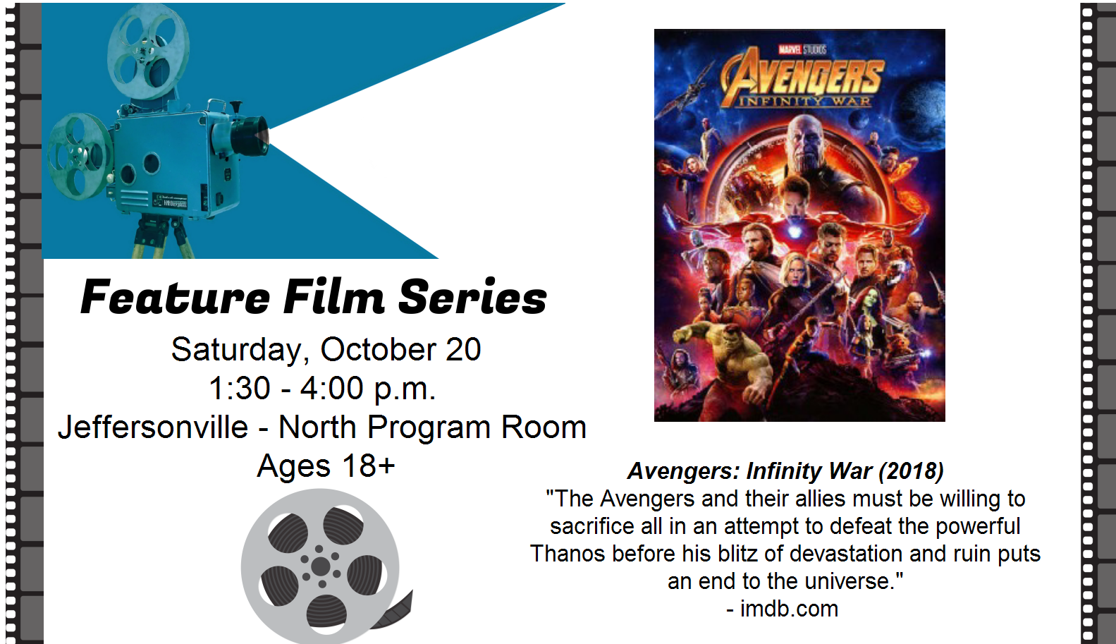 Feature Film Series – Avengers: Infinity War