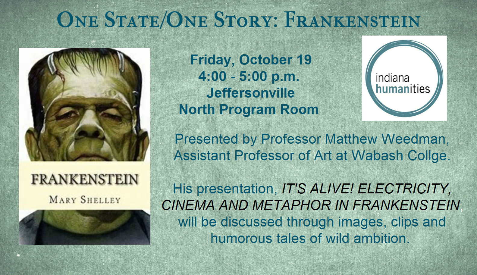 One State/One Story: Frankenstein