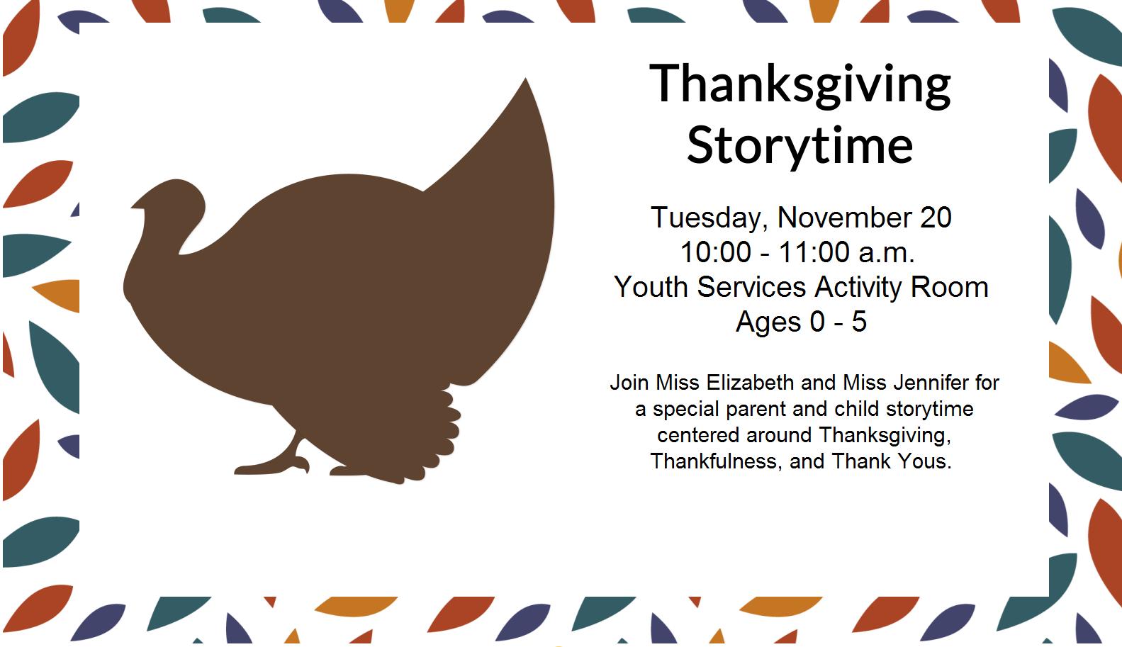 1120 – Thanksgiving Storytime