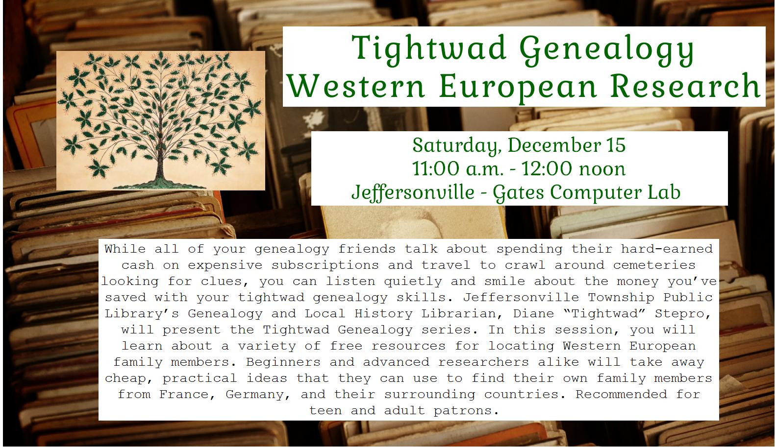 1215 – Tightwad Genealogy