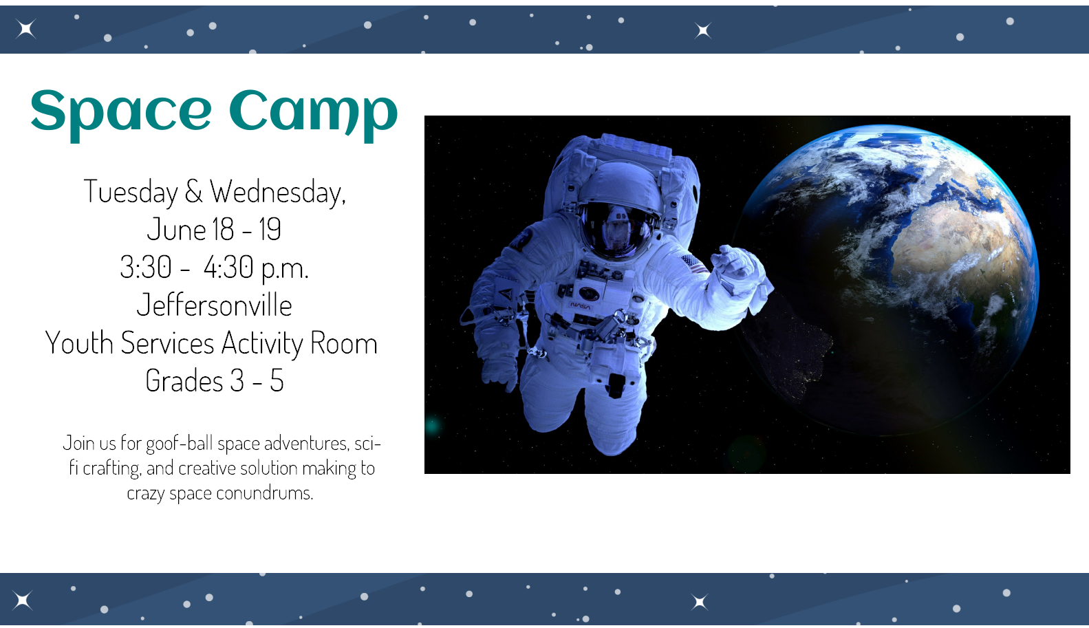 Flyer for Space Camp