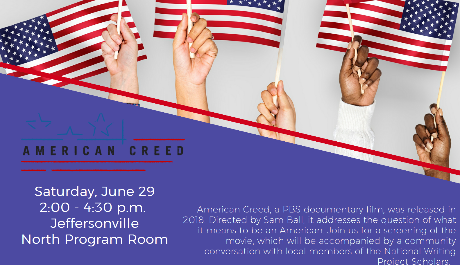 Flyer for American Creed program