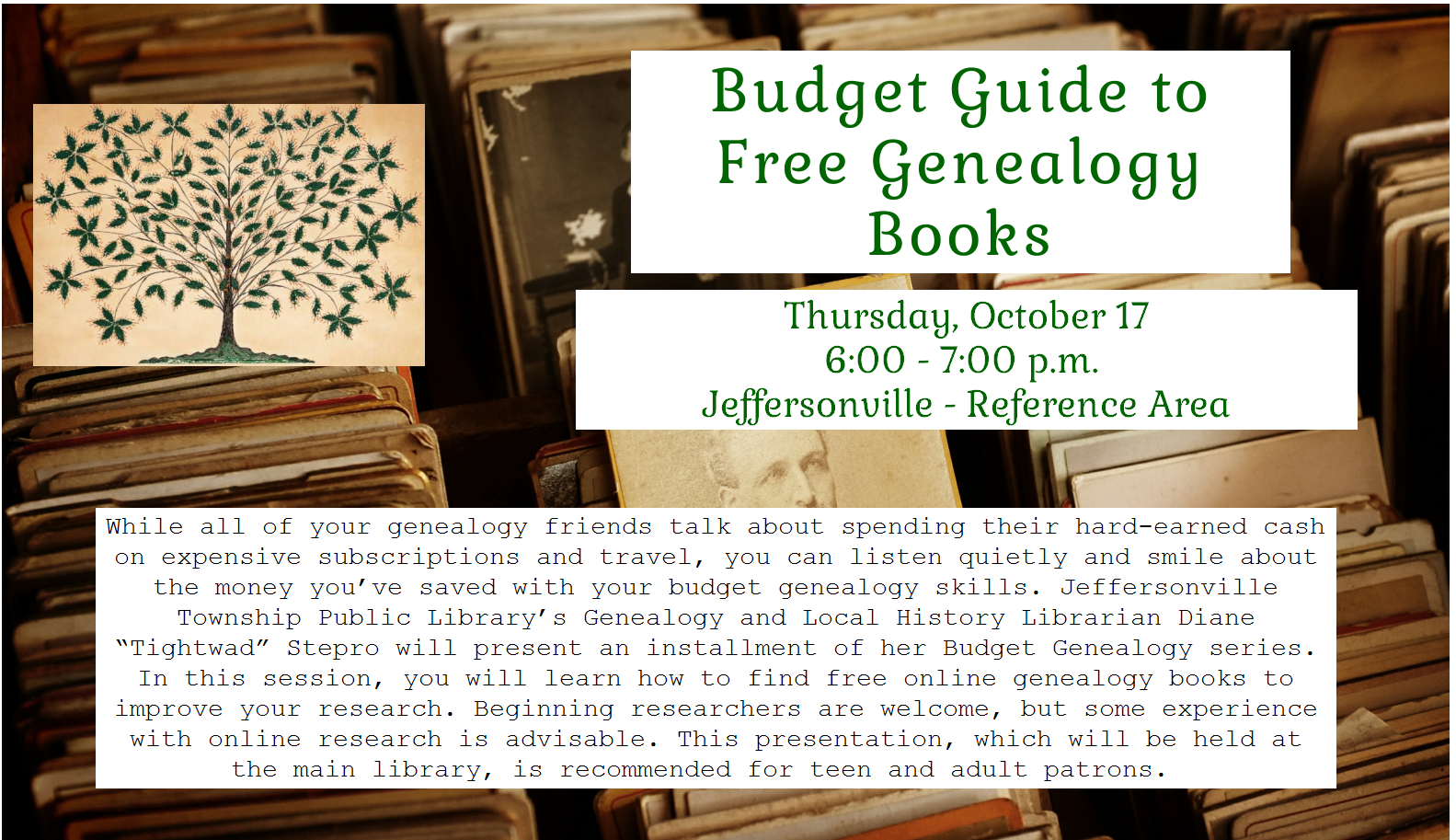 Budget Guide to Genealogy Books
