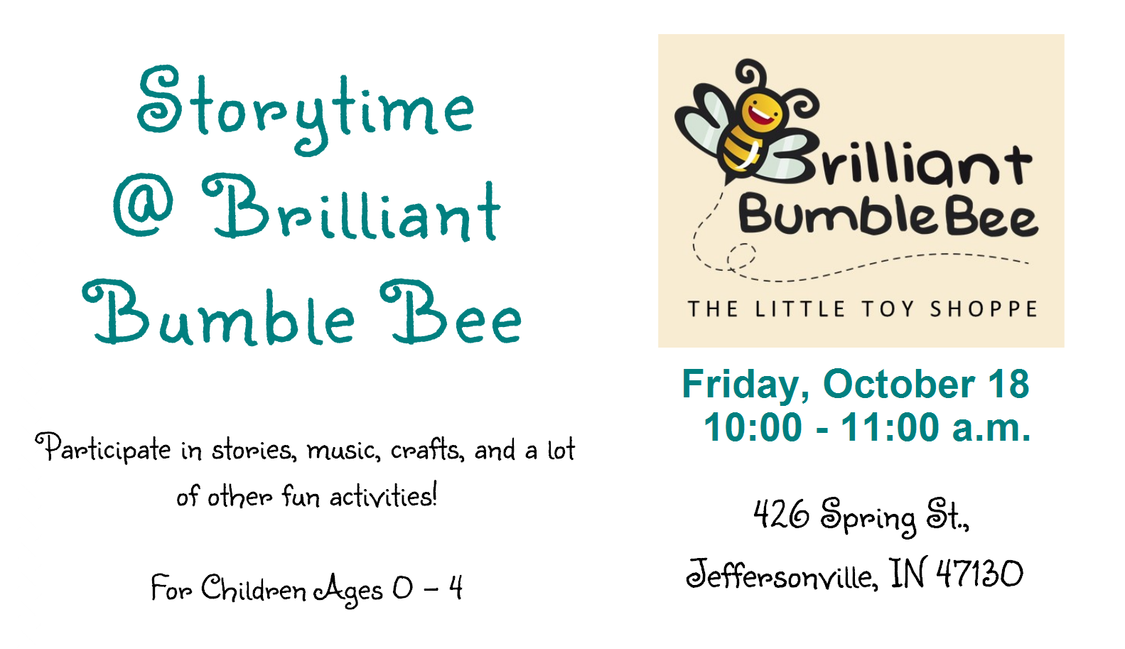 Storytime at Brilliant Bumble Bee
