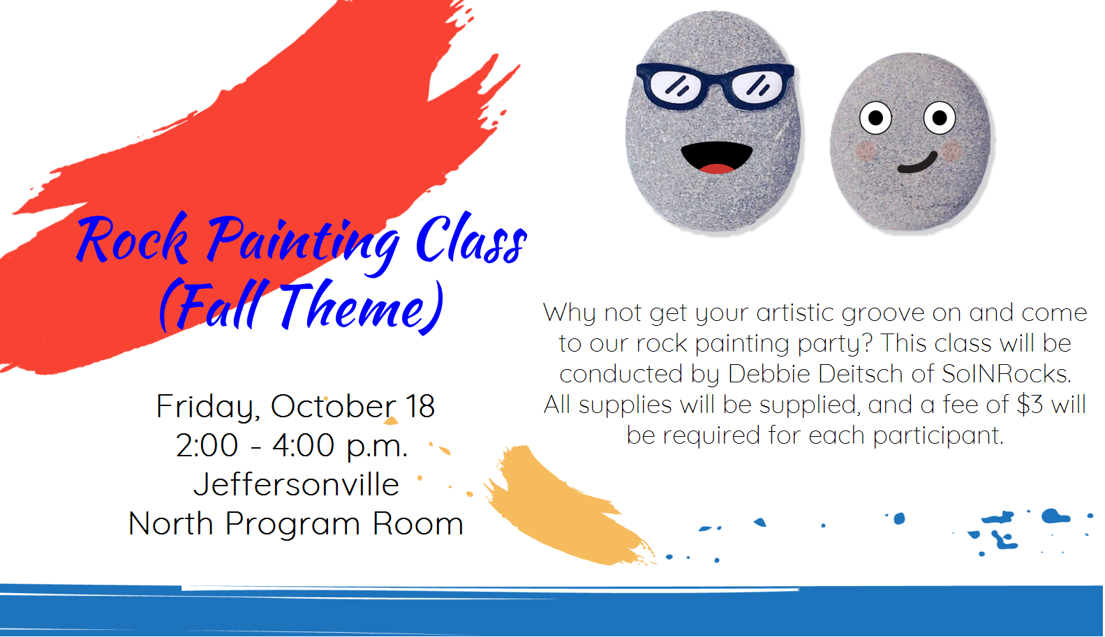 Fall Rock Painting class