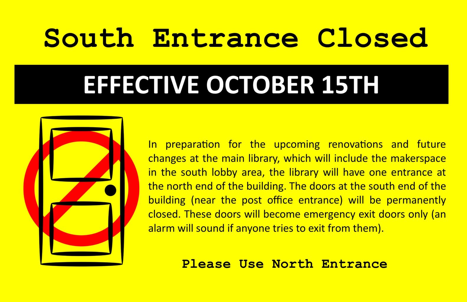 Entrance Closing TV Flyer