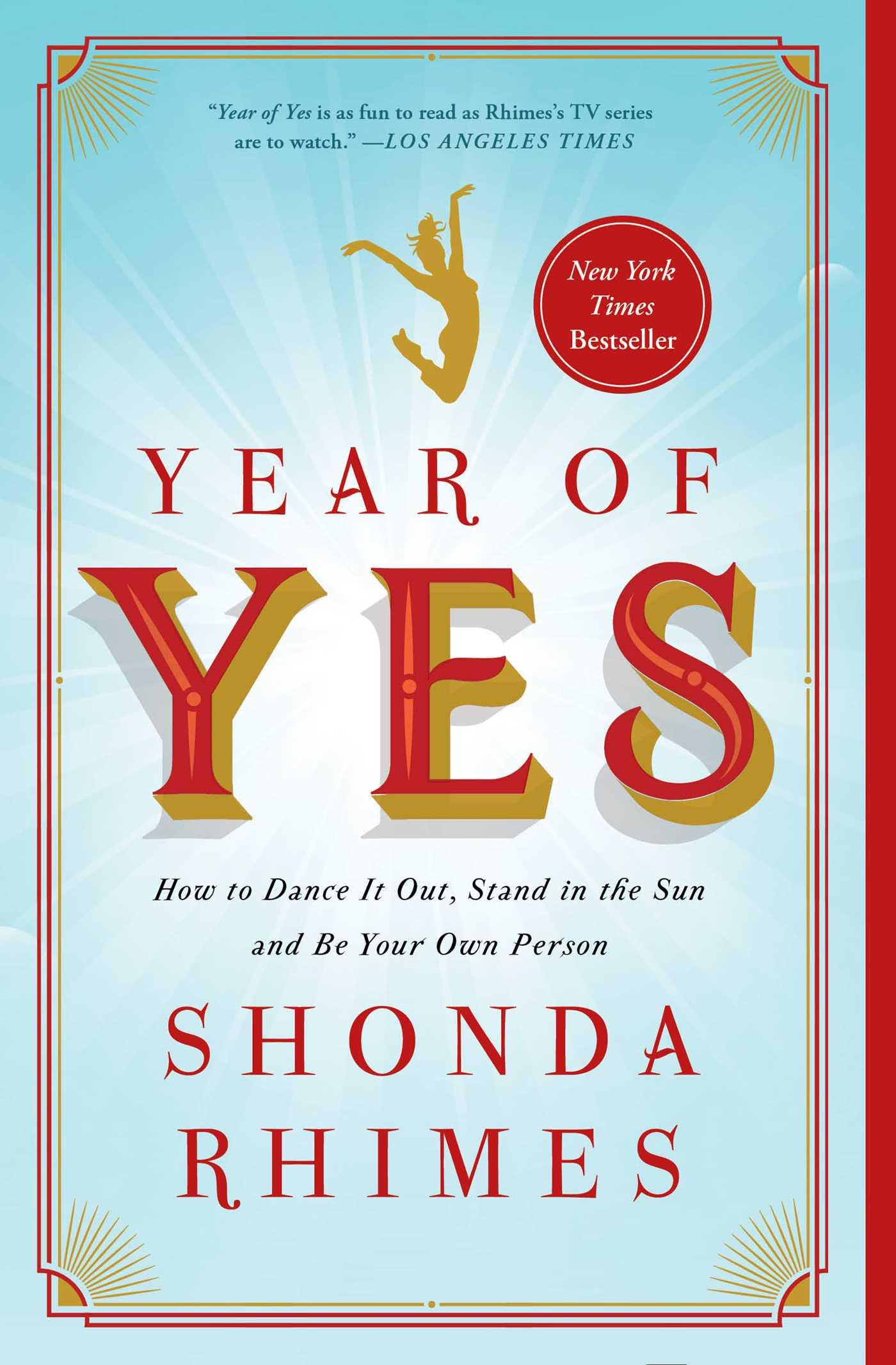 Cover of Year of Yes by Shonda Rhimes