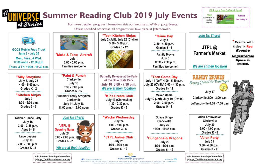 Kids Summer Reading Events in July 2019