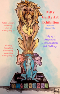 Poster advertising the Nitty Gritty Art exhibit