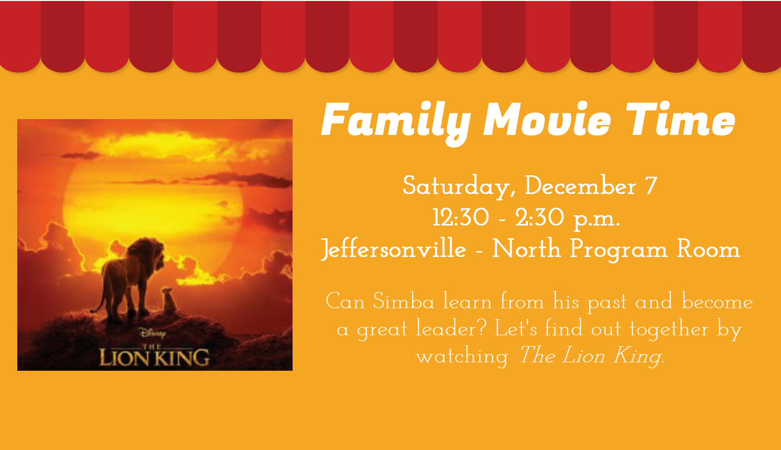 Family Movie Time - The Lion King (2019)