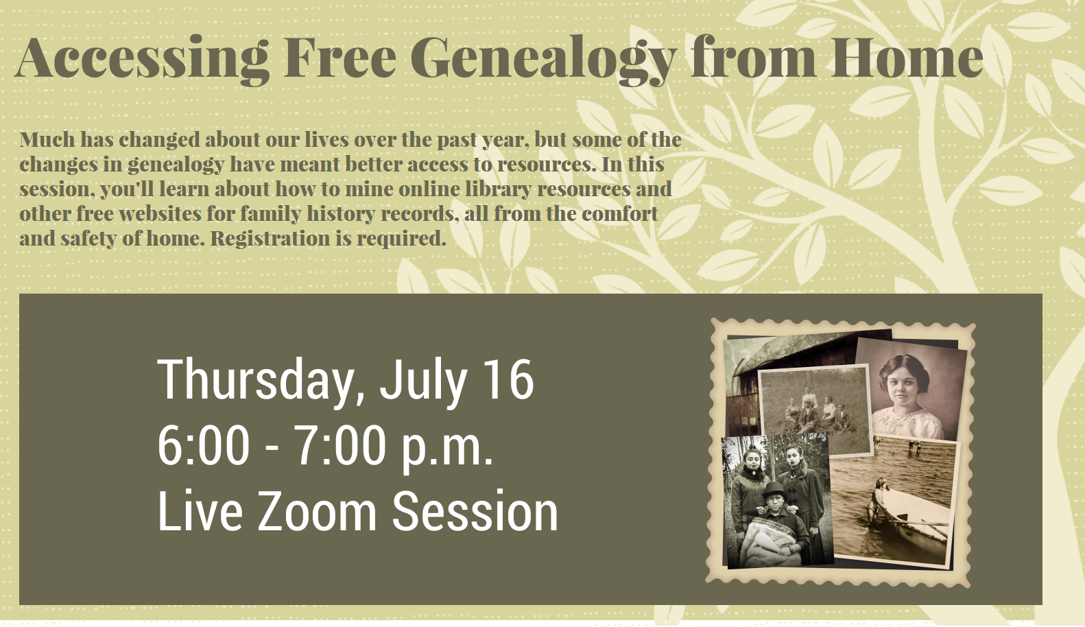Accessing Free Genealogical Resources from Home