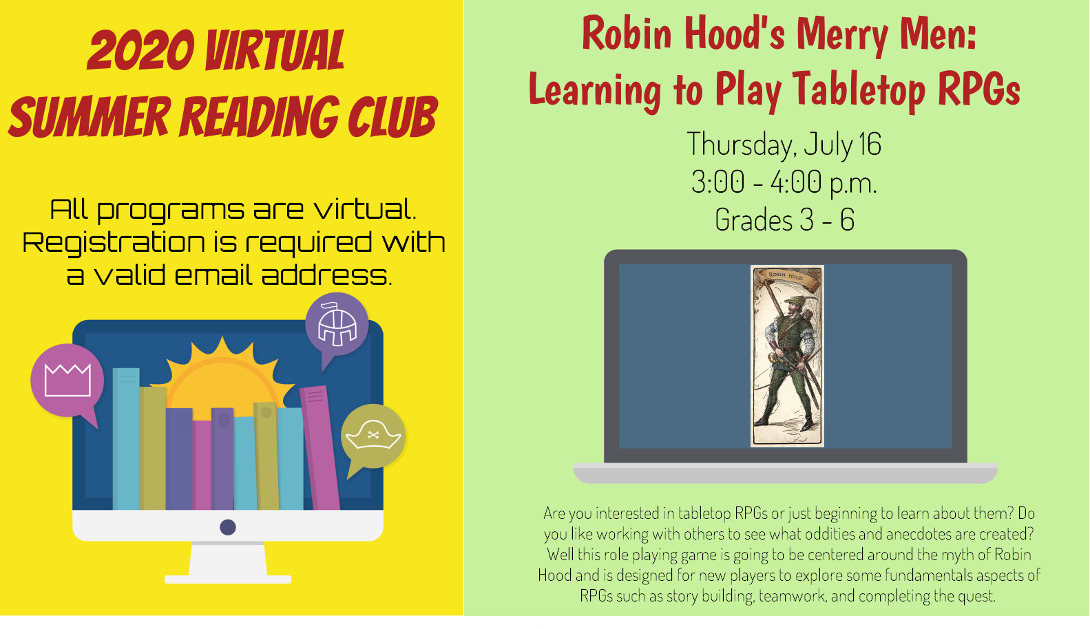 Robin Hood's Merry Men: Learning to play Tabletop RPGs