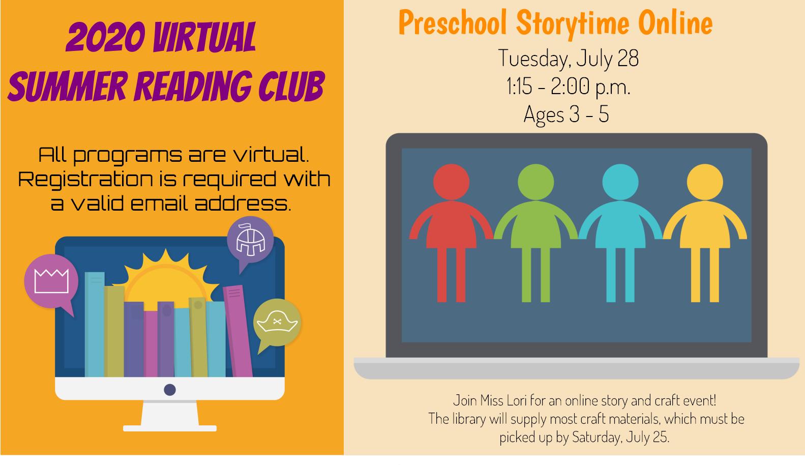 Preschool Storytime Online