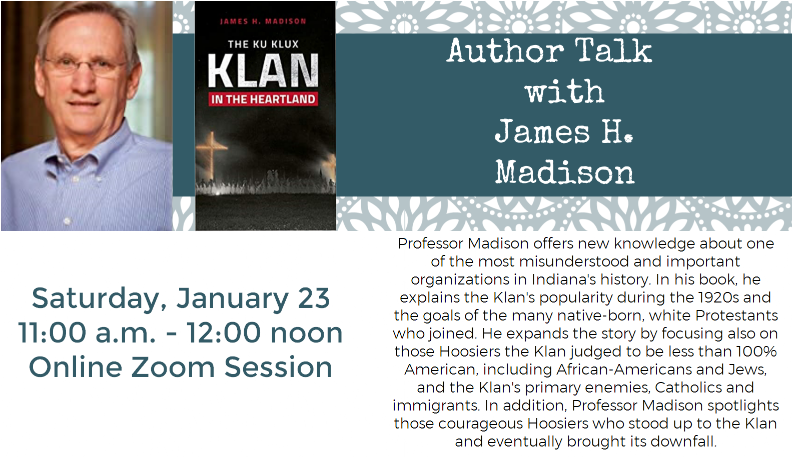 Author Talk with James H. Madison
