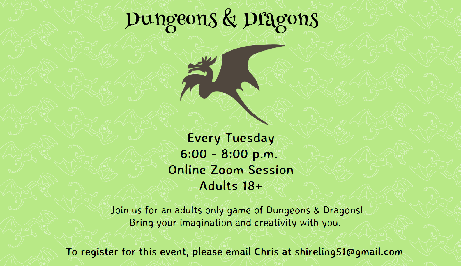 Dungeons and Dragons (adults 18+)