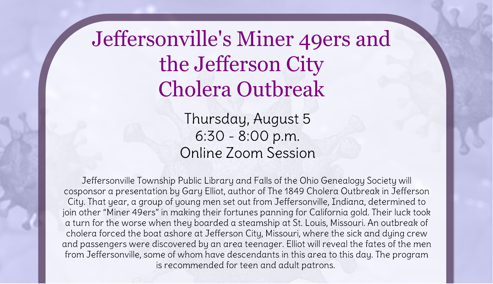 Jeffersonville's Miner 49ers and the Jefferson City Cholera Outbreak